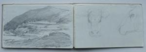 skizzenbuch-1-gardasee-und-kuh-1989