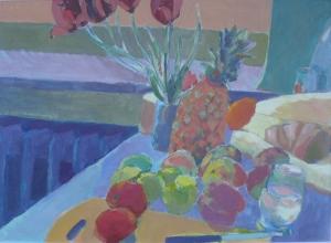 stilleben-mit-ananas-oel-auf-papier_-1