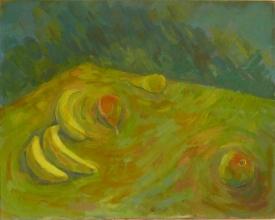 stilleben-mit-bananen-und-apfel-1988