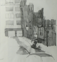 wlfrather-strasse-vorzeichnung-tusche-1-1985