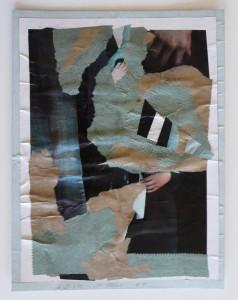 O.T. Collage mit Streifen