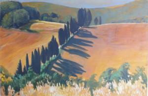 Weg in der Toscana